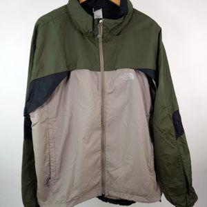 The North Face Windbreaker Men's XL Green Beige